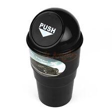 Car Black Office Home Auto Waste Trash Rubbish Bin Can Garbage Dust Case Holder