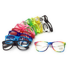 68fb4d81bf CLEAR LENS NOVELTY GLASSES Nerd Geek Hipster Fancy Dress Mens Ladies Women  Party