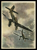 1939 Germany 3rd Reich Postcard Cover German WWII Hitler Luftwaffe Planes Attack