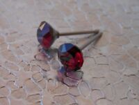 HYPOALLERGENIC Stud Earrings  Swarovski Elements Crystal   Ruby Color for July