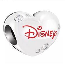 925 Silver Chamilia Disney Be Mine Heart Bead Charm Love Valentines Swarovski