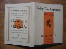 saison 1948 PROGRAMME Calendrier Rugby CHALON sur SAONE 1949 sport