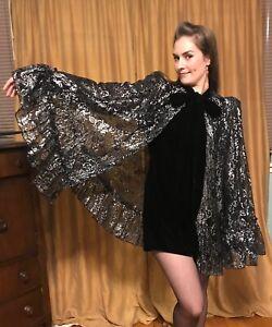 The Vampire's Wife x H&M Gothic Romance Lace Velvet Witch Designer Cape NWT XS/S