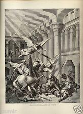 Stampa Antica = 1870= BIBBIA= ELIODORO PUNITO = di Gustave DORE' = Old Print