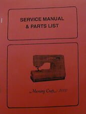 Janome Memory Craft 5000 Sewing Machine Service Manual & Parts List
