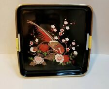 Pre-owned Japanese Lacquer Trays, set of 3 Black Trays and a Red Trays
