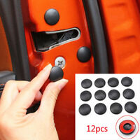 Black Car Interior Door Lock Screw Protector Covers Anti-Rust Caps Trim Sticker