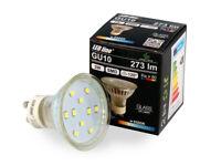 LED Line 5x GU10 3W LED Leuchtmittel Kaltweiß 6500K 273 Lumen Einbauleuchte