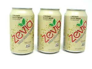 Zevia Zero Calorie Soda, Creamy Root Beer, 12 Ounce Cans (Pack of 3) Fast Ship