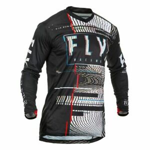 Motocross Jersey Shirt > Fly 2020 Lite Glitch MX Breathable - Black/Red/Blue