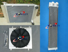 Radiator shroud fan&Oil cooler for Mazda RX2 RX3 RX4 RX5 RX7 without heater pipe