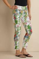 Soft Surroundings Womens Size Small Ankle Pullon Pants In Bloom Floral Garden