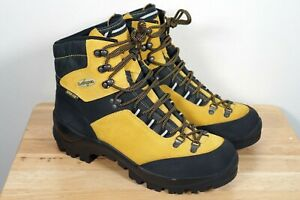 Men's LOWA Yellow GORE-TEX Vibram Hiking Boots Size 10.5 US Made in ITALY