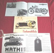 L'automobiliste N°33 : automobile Voisin   MATHIS EMY  Gnome et Rhone  Armée