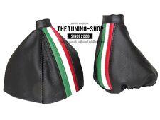 For Alfa Romeo 159 05-11 Gear & Handbrake Gaiter Leather Italy Stripes