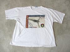 VINTAGE Tommy Hilfiger Shirt Adult 2XL XXL White International Games Diving 90s