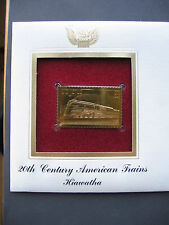 1999 Hiawatha Train 22kt Gold Golden Replica Cover 1st First Day Issue Stamp