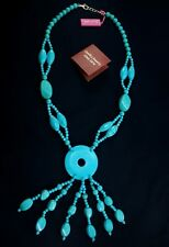 """Turquoise Necklace Hand Made Sterling Silver Clasp 25.5"""" Brand New ss"""