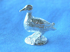 SILVER DUCK MODEL.  HALLMARKED STERLING SILVER DUCK FIGURE or SHELF MODEL