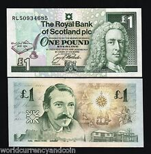 SCOTLAND 1 POUND P358a 1994 COMMEMORATIVE QUILL PEN BOOK UNC CURRENCY GB UK NOTE