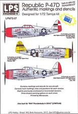 LPS Decals 1/72 P-47D THUNDERBOLT Fighter 36th & 48th FG Markings & Stencils