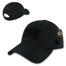 Black Tactical Ripstop Military Patch Operator Contractor Low Crown Cap Hat