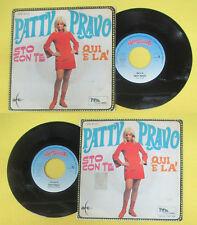 LP 45 7'' PATTY PRAVO Sto con te Qui e la' FAVOLOSI ANNI 60 RED RONNIE no cd mc