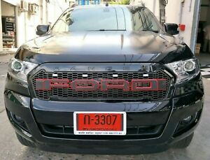 Fit UK Ford Ranger 2015-2018 Amber LED Strong Front Grill RED Rim Alphabet