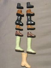 "Star Wars GI Joe 12"" 1/6 Scale Action Figure Doll Boot Shoe Lot C Black Brown"
