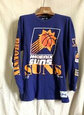 Vtg 1990s Phoenix Suns Nba The Game L/S Old Logos T Shirt Charles Barkley Lg