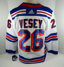 Mens New York Rangers Jimmy Vesey #26 Authentic Adidas Pro White Jersey L 52