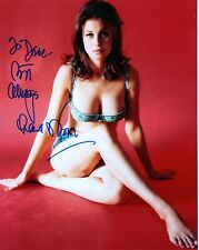 LANA WOOD HAND SIGNED 8x10 COLOR PHOTO+COA       VERY SEXY BOND GIRL     TO DAVE