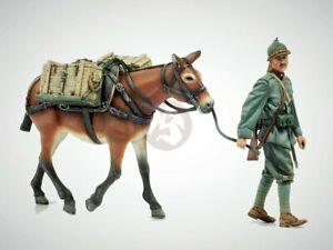 Model Victoria 1/35 Italian Infantryman WWI Walking with a Mule (2 Figures) 1405