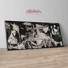 Pablo Picasso - Guernica - Stampa Fine Art su tela Canvas Quadro Moderno Cubismo