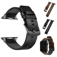 For Apple Watch Series 5 4 3 2 1 Genuine Leather Band iWatch 38/42/40/44mm Strap