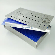 Two levesl Aluminium sterilization tray box 2 silicone mat surgical instrument