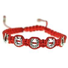 Horseshoes Red Bracelet Adjustable Lucky Horse Shoes Herradura Western Fashion