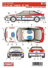 1/24 1992 Toyota ST165 GT-Cuatro #7 Tamoil Decal Set ~ Studio 27 DC1022