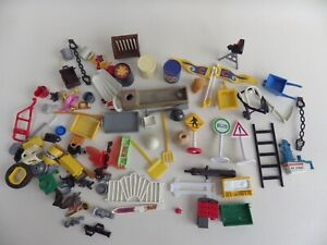 Bundle PLAYMOBIL Accessories Various Vintage Later Bulk Signs Fork Scale/Ladder