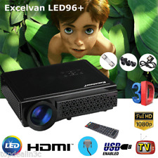 LED 5000 Lumens FULL HD 1080P Home Projector Theater Zoom 2000:1 3D HDMI USB VGA