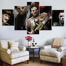 Horror Movie Characters Leatherface Saws Canvas Prints Painting Wall Art 5PCS