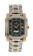 Croton CR307964TTBK Men's Octagon Day & 24 Hr Stainless Rose Gold Tone Watch