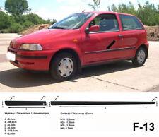 Seitenschutzleisten schwarz für Fiat Punto Typ 176 3-Türer 1. Gen. 9.1993-9.1999