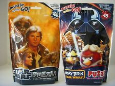 STAR WARS & ANGRY BIRDS STAR WARS Puzzle Bags Lot of 2 Resealable Puzzle Bags