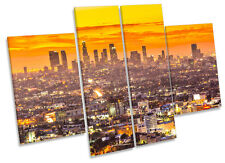 Los Angeles Sunset City CANVAS WALL ART MULTI Panel Print Box Frame