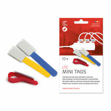Label-The-Cable Mini, LTC 2530, 10er-Set mix (rot, blau, gelb, Anzahl variiert)