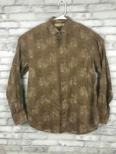 Tommy Bahama Mens S Linen Long Sleeve Button down Shirt Brown - Read