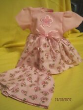 """HandmadeSweet flowered dress and shorts outfit fits 11-12"""" baby dolls"""