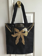 NWT Marc Jacobs Black and Gold Bow Tote Shopper Bag GWP