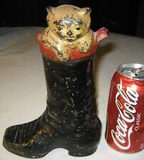 ANTIQUE CREATION PUSS IN BOOT CAST IRON CAT STATUE DOORSTOP SCULPTURE HUBLEY TOY